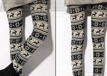 Divatos téli mintás leggings, meleg és rugalmas anyagból, egy méretben és választható 2 féle mintával