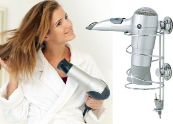 Tartsd praktikusan kedvenc hajszárítód! Könnyen felszerelhető, rozsdamentes acélból készült hajszárító tartó