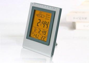 Multifunkciós meteorológiai állomás, ébresztőórával és dátumkijelzéssel