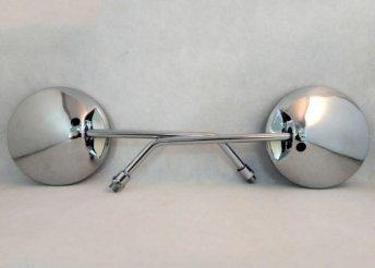Négyszögletes,króm visszapillantó tükör robogóra