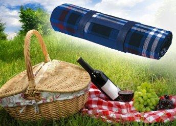 Kockás pikniktakaró hordozófüllel
