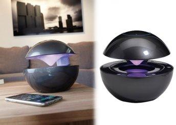 Bluetooth hangszóró színes világítással, erős újratölthető akkumulátorral