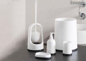 5 darabos Homania Black & White fürdőszobai szett