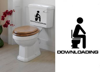 Vicces falmatrica WC-be