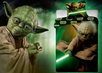 Yoda mester figurájával díszített ágyneműhuzat szett