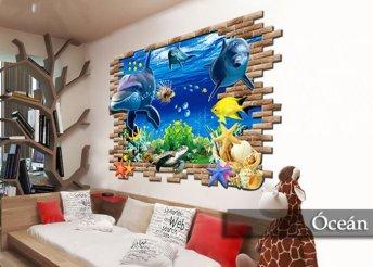 Különleges, látványos dísz otthonod falára - nagyméretű, 3D-s falmatrica 7-féle mintában