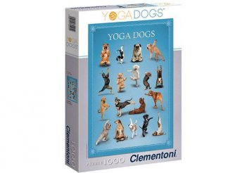 Clementoni jógázó kutyák 1000 db-os puzzle