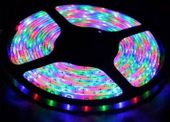 5 méteres színes RGB LED szalag