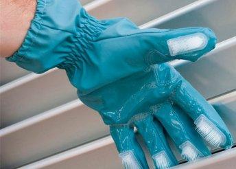 2 db Scrub-a-Gloves tisztítókesztyű sörtékkel