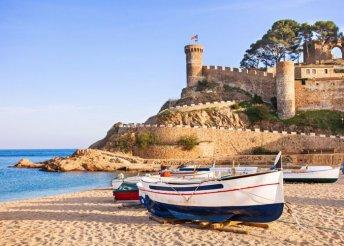 Strandolás a Földközi-tengerben Costa Braván