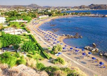 Rodoszi nyár a faliraki strand közelében