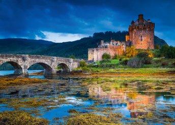 Körutazás Skóciában repülőjeggyel, szállással, félpanziós ellátással - 2 személy részére