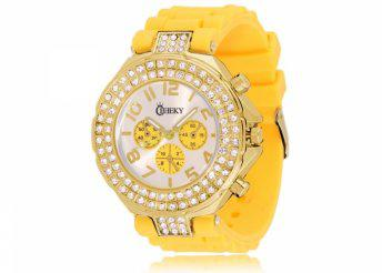 Cheeky HE003 Gold Yellow Chronostyle női karóra