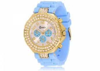 Cheeky HE003 Gold Light Blue Chronostyle karóra