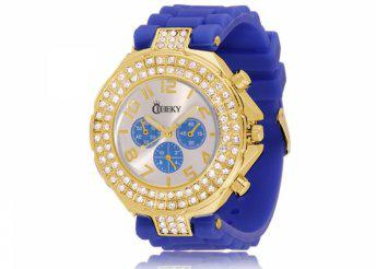 Cheeky HE003 Gold Dark Blue Chronostyle karóra