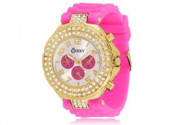Cheeky HE003 Gold Hot Pink Chronostyle karóra