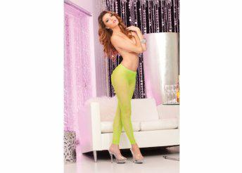 Neon footless tights: Green