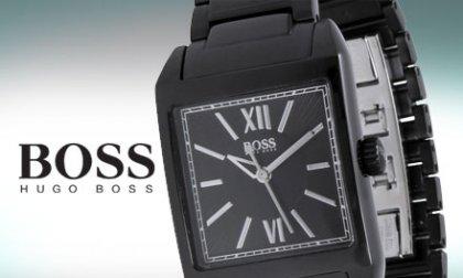 Hugo Boss exkluzív karóra rozsdamentes acél házzal és szíjjal, selyemfényű, összecsukható csattal