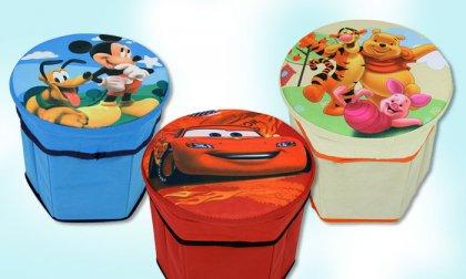 Disney mintás tároló puffok