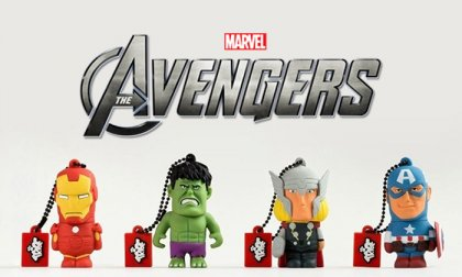 3D-s, Amerika kapitány, Vasember, Thor vagy Hulk figurás, szilikon, 8 GB-os pendrive 24 hónap garanciával