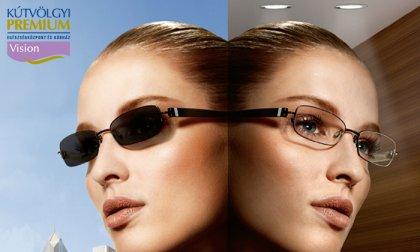 Komplett szemüveg fényre sötétedő lencsével