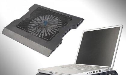 Nagyméretű laptoptartó és hűtő 2 az 1-ben