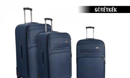 Kétkerekű bőrönd teleszkópos fogantyúval
