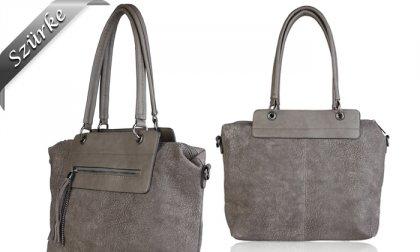 Pierre Cardin divatos, eco bőr női válltáska külső cipzáras zsebbel, 3 választható színben