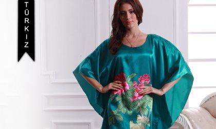 Stílusos női selyem hálóing, egy méretben