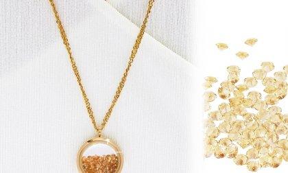 Egyedi arany nyaklánc Swarovski kristályokkal