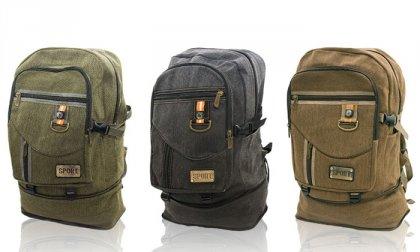 Jól pakolható, nagy méretű, kényelmes hátizsák