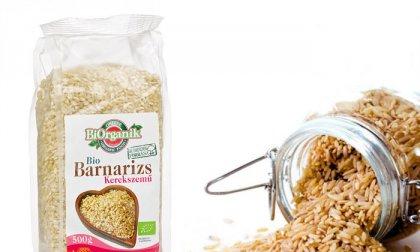 500 gramm kerek szemű, bio barna rizs