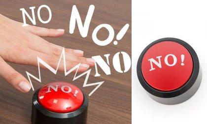Nem, nem és nem! gomb