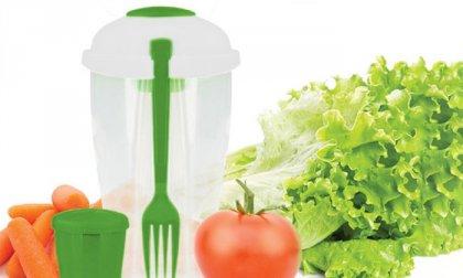 Műanyag salátás tál