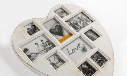 Antique Heart Vintage szív formájú fényképkeretet 10 fényképhez