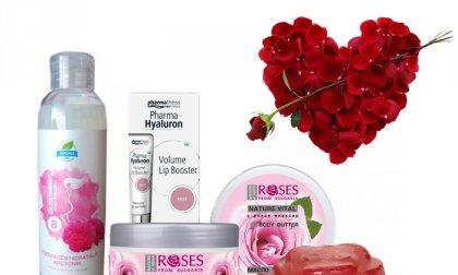 Rózsás ajándékcsomag
