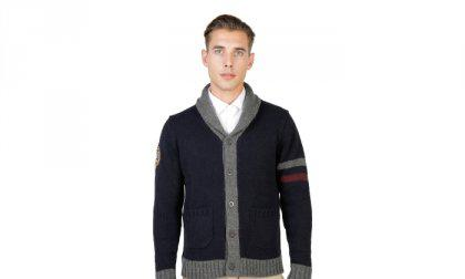 Oxford University pulóver OXFORD_TRICOT-CARDIGAN-NAVY