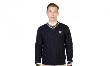Oxford University pulóver OXFORD_TRICOT-CRICKET-NAVY